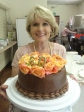 Val Archer with the magnificent birthday cake she made for Rose Gray.