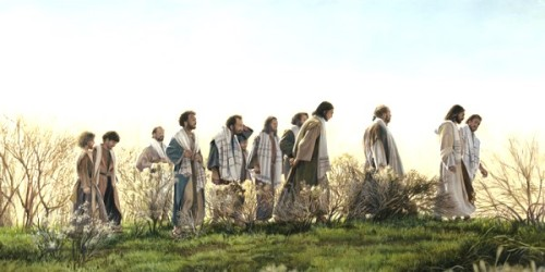 Jesus and his disciples