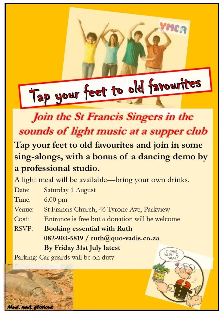 St Francis Singers light music Aug 2015 single flyer