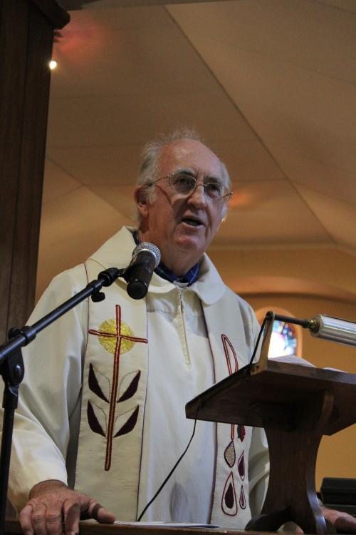 Tim preaches his last sermon at St Francis