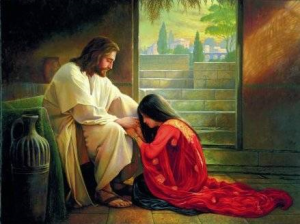 Jesus and the young woman