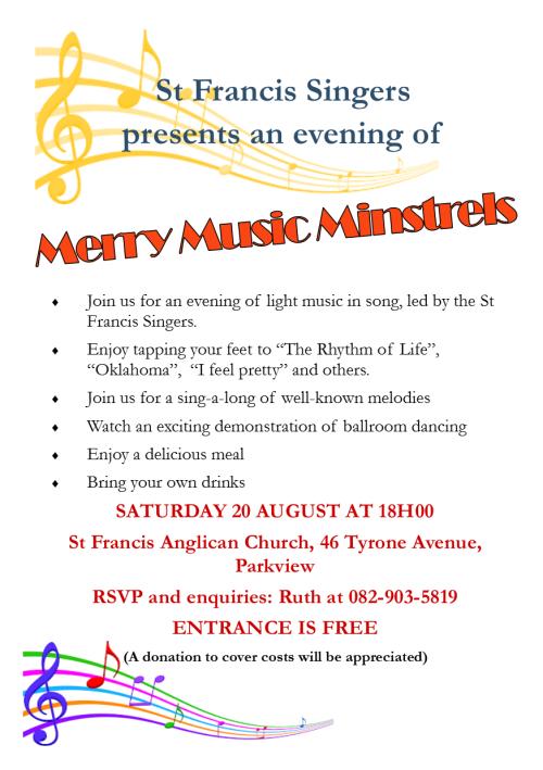 Merry minstrels flyer A5