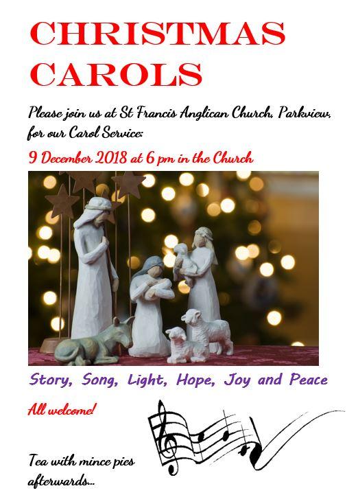 Christmas carols at st Francis